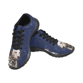 Dalmatian Lover Black Sneakers for Men - TeeAmazing