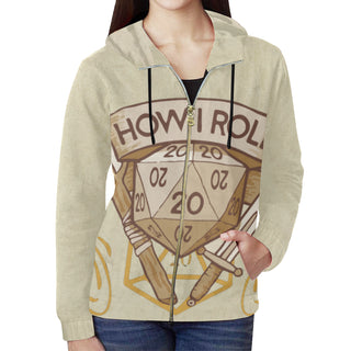 How I Roll All Over Print Full Zip Hoodie for Women - TeeAmazing