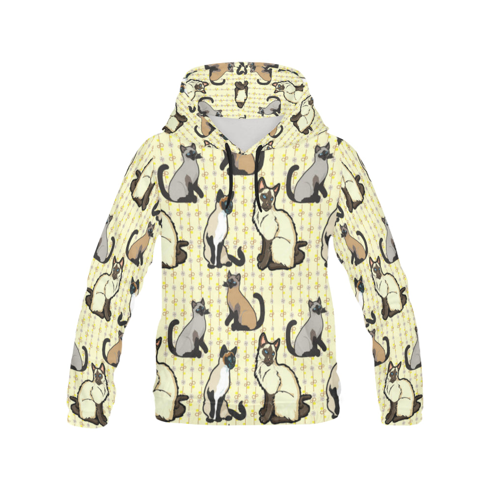 Siamese All Over Print Hoodie for Women - TeeAmazing