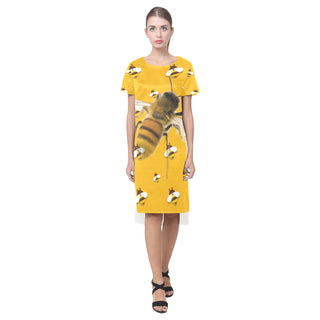 Bee Lover Short Sleeves Casual Dress - TeeAmazing