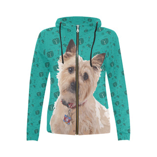 Cairn terrier All Over Print Full Zip Hoodie for Women (Model H14) - TeeAmazing