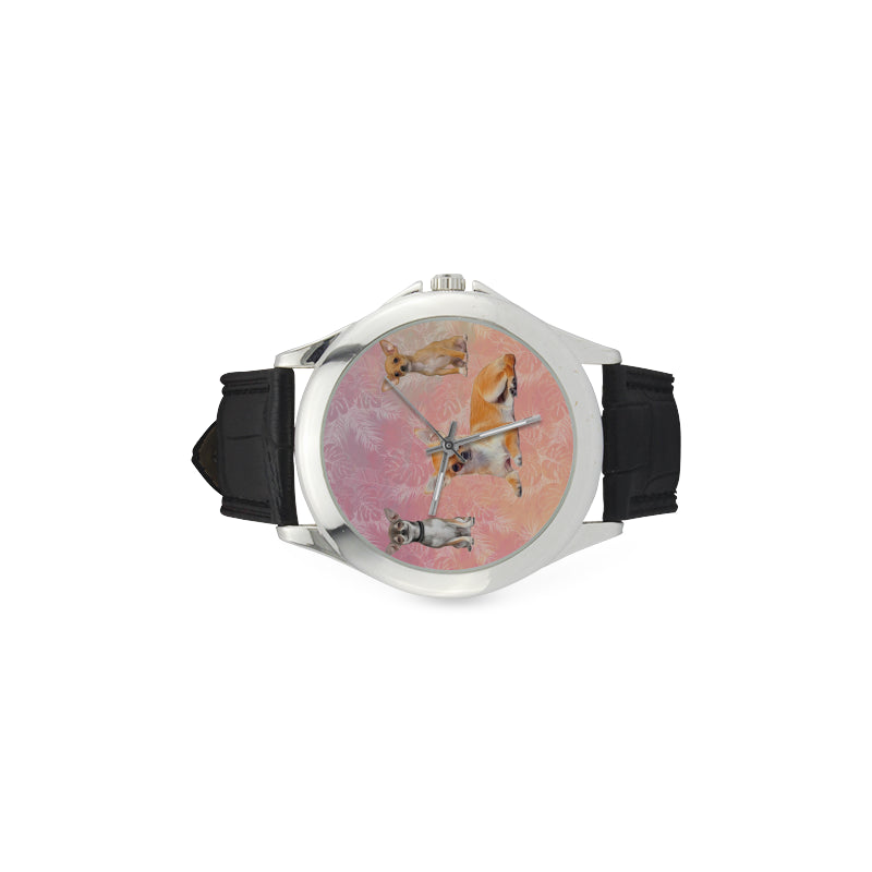 Chihuahua Lover Women's Classic Leather Strap Watch - TeeAmazing