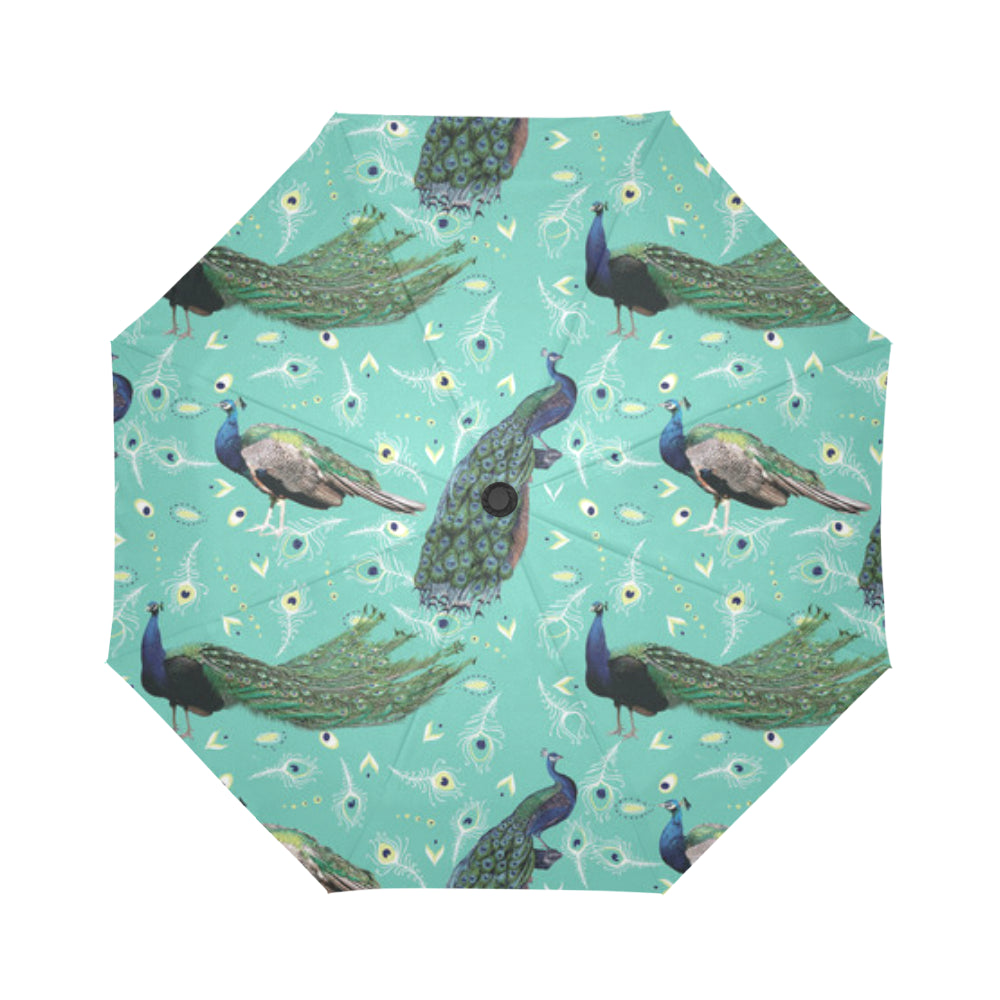 Peacock Auto-Foldable Umbrella - TeeAmazing