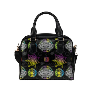 Lotus and Mandalas Shoulder Handbag - TeeAmazing