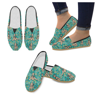 Airedale Terrier Pattern Women's Casual Shoes - TeeAmazing