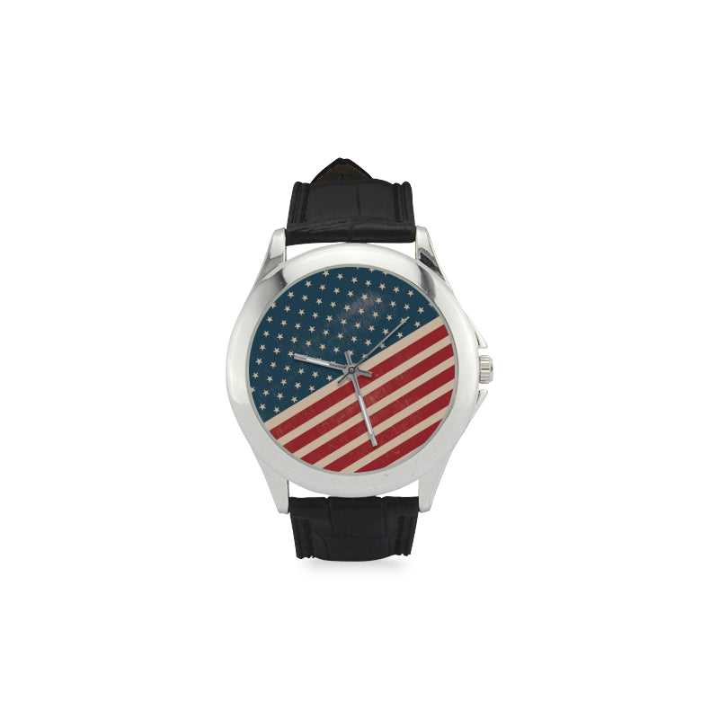4th July V2 Women's Classic Leather Strap Watch - TeeAmazing