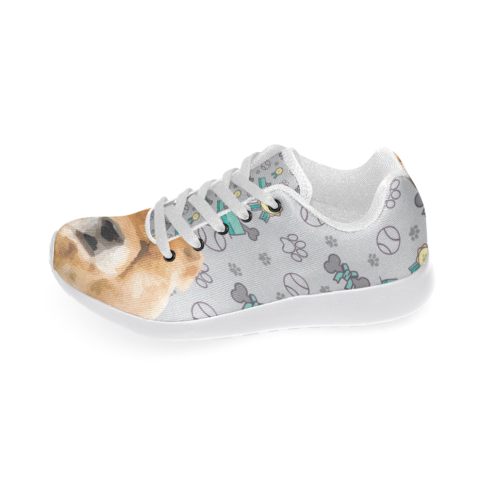 Chow Chow Dog White Sneakers Size 13-15 for Men - TeeAmazing