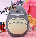 3D cute Totoro case for iphone 4 5 5s 6 4.7 inch 6 plus 5.5 inch TPU cell phone case silicone - TeeAmazing