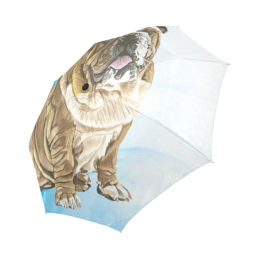 English Bulldog Water Colour No.1 Auto-Foldable Umbrella - TeeAmazing