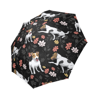 Jack Russell Terrier Flower Foldable Umbrella - TeeAmazing