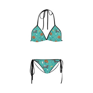 Dachshund Flower Custom Bikini Swimsuit - TeeAmazing