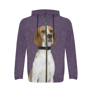 English Pointer Dog All Over Print Full Zip Hoodie for Men - TeeAmazing