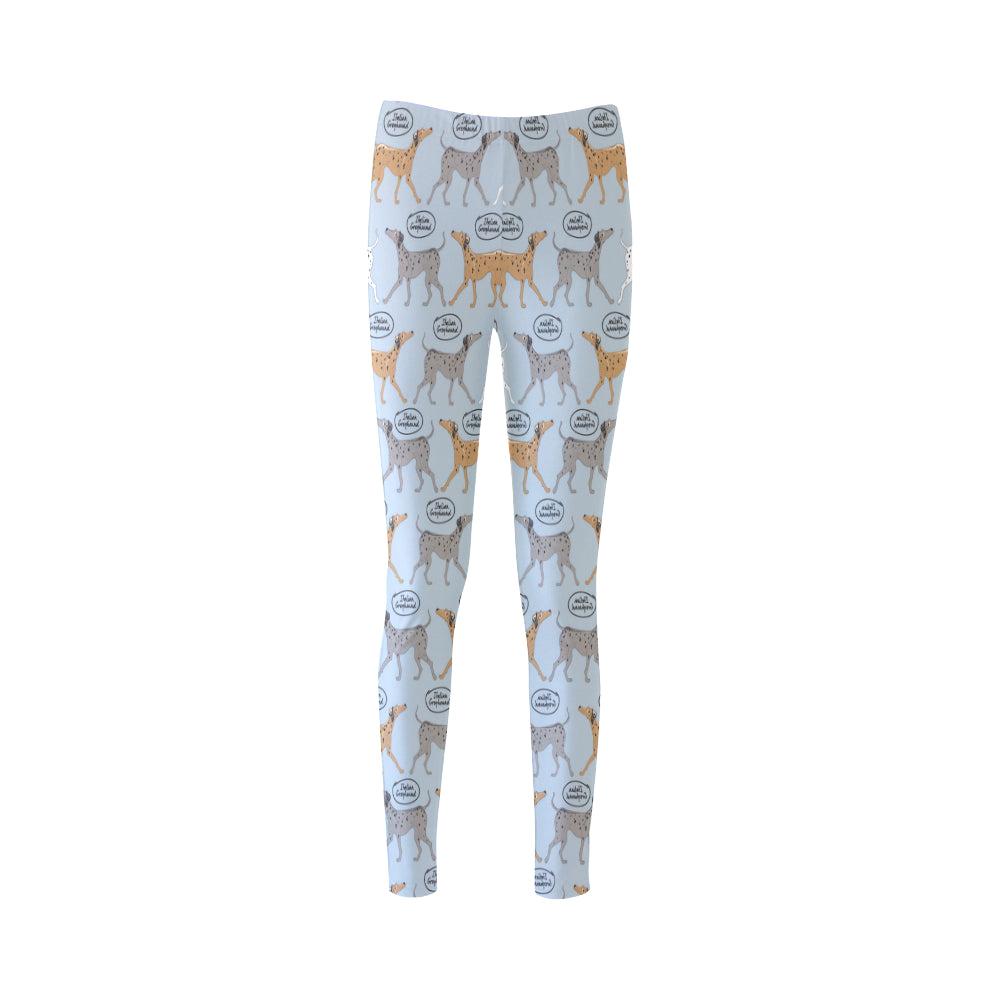 Italian Greyhound Pattern Cassandra Women's Leggings - TeeAmazing