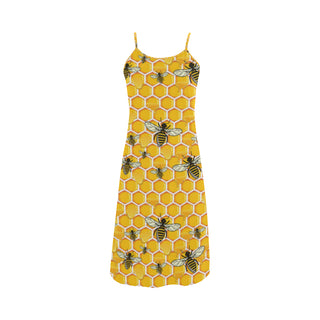 Bee Alcestis Slip Dress - TeeAmazing