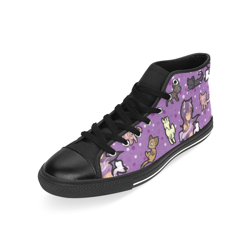 Aphmau Black Men's Classic High Top Canvas Shoes /Large Size - TeeAmazing