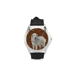 Great Pyrenees Dog Women's Classic Leather Strap Watch - TeeAmazing