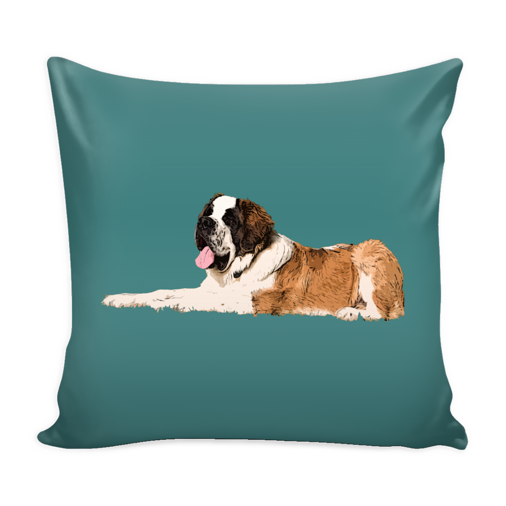 St. Bernard Dog Pillow Cover - St. Bernard Accessories - TeeAmazing