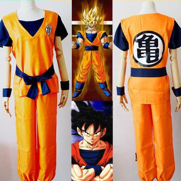 Two Style Dragon Ball Z Son Goku Kids Adult Cosplay Costume Set - TeeAmazing