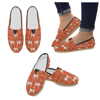 Jack Russell Terrier Water Colour Pattern No.1 Women's Casual Shoes (Model 004) - TeeAmazing
