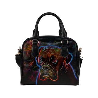 Boxer Glow Design 3 Shoulder Handbag - TeeAmazing