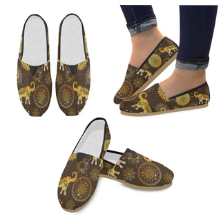 Elephant and Mandalas Women's Casual Shoes (Model 004) - TeeAmazing