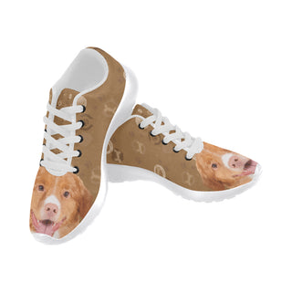 Nova Scotia Duck Tolling Retriever Dog White Women's Running Shoes (Model 020) - TeeAmazing