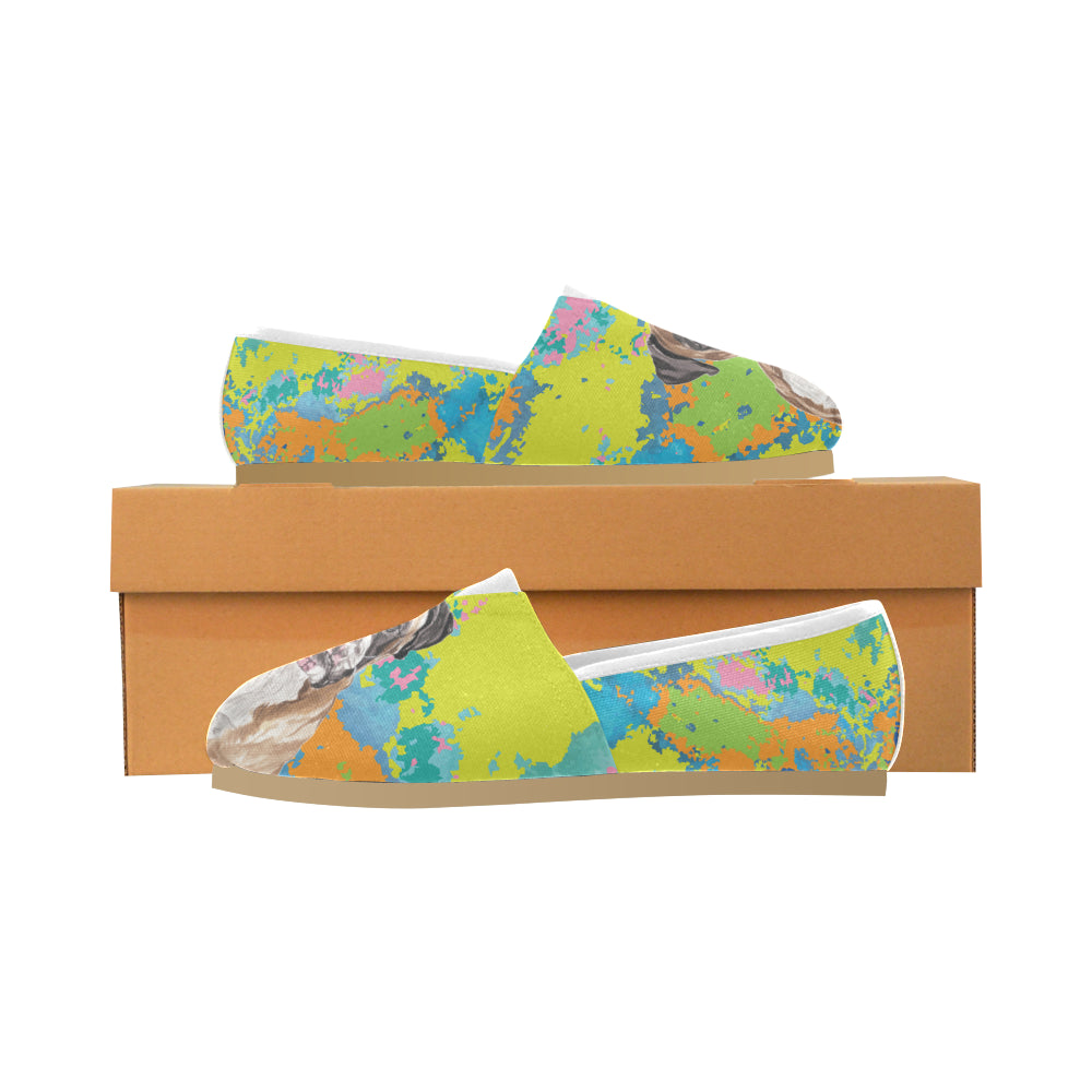Boxer Water Colour No.2 Women's Casual Shoes - TeeAmazing