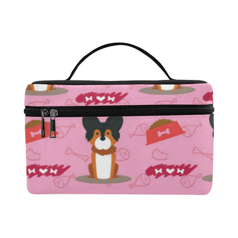 Papillon Pattern Cosmetic Bag/Large - TeeAmazing