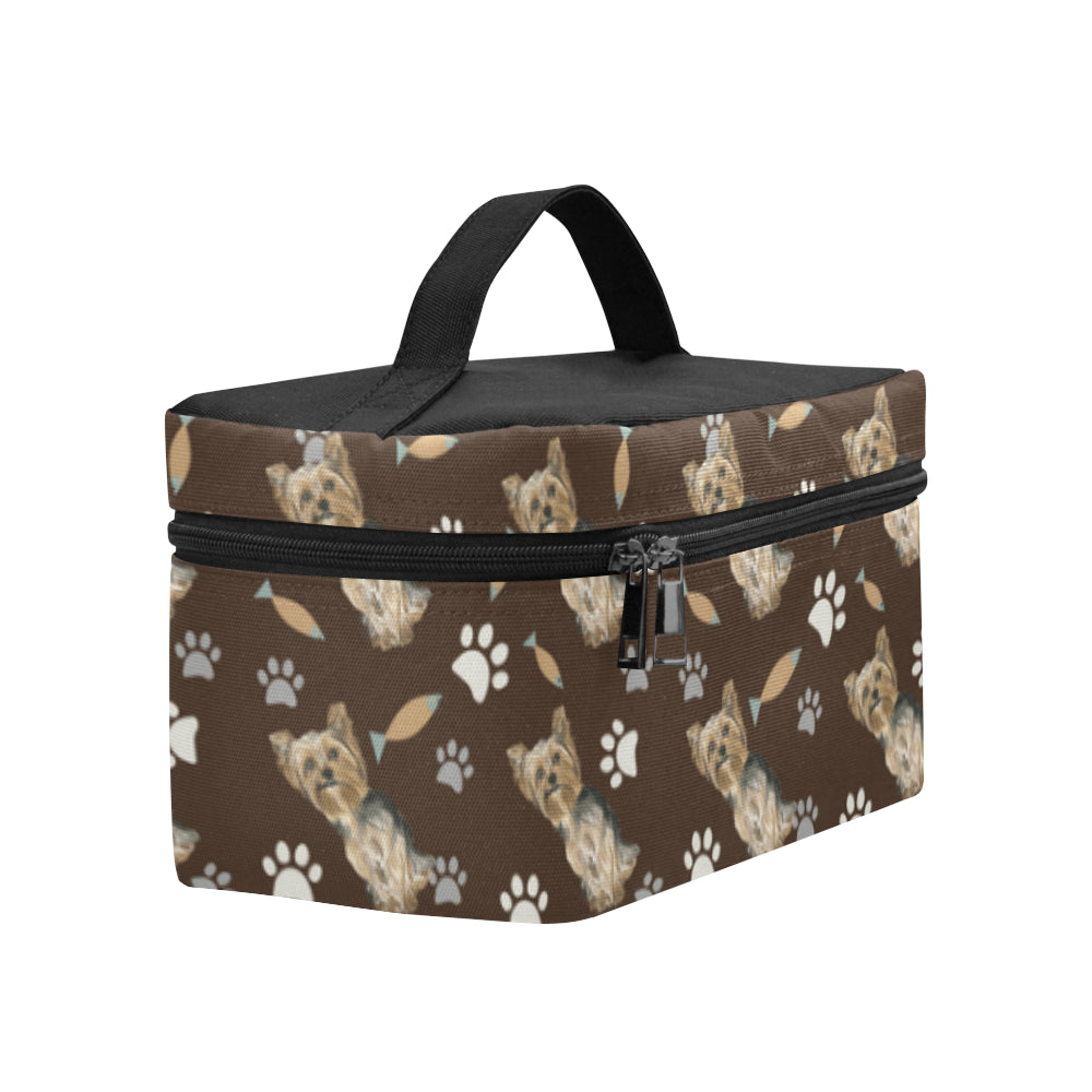 Yorkshire Terrier Water Colour Pattern No.1 Cosmetic Bag/Large - TeeAmazing