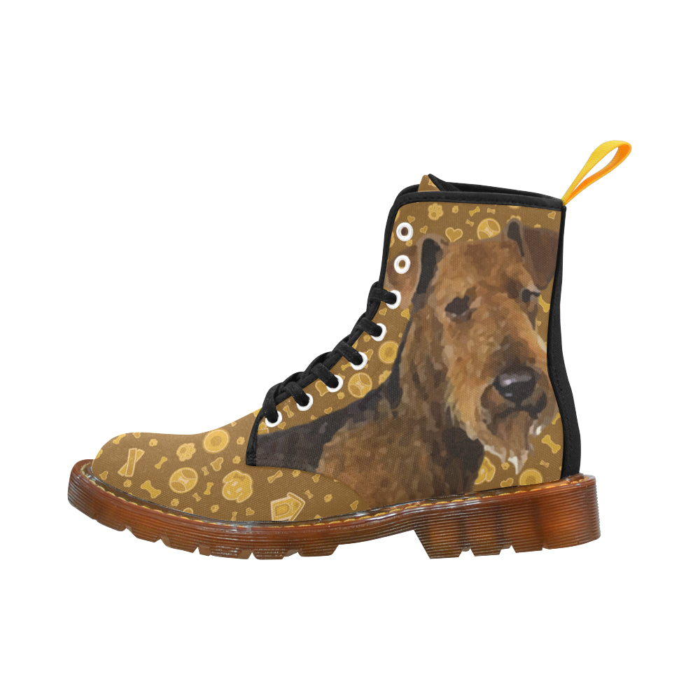 Welsh Terrier Dog Black Boots For Women - TeeAmazing