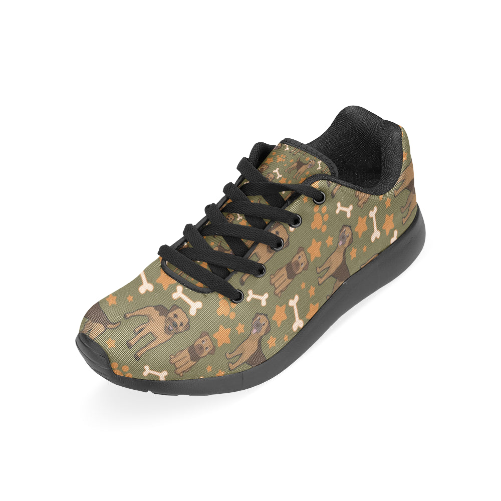Border Terrier Pattern Black Sneakers Size 13-15 for Men - TeeAmazing