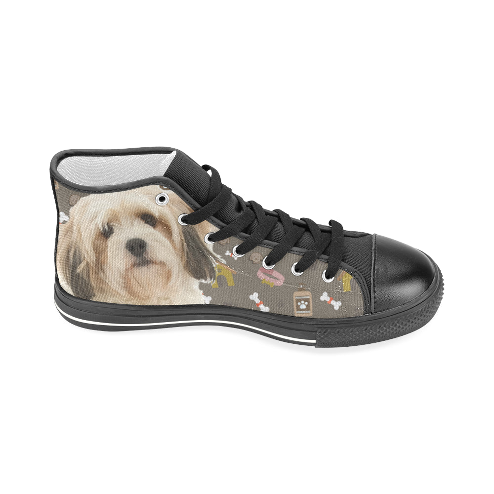 Cavachon Dog Black Men's Classic High Top Canvas Shoes - TeeAmazing