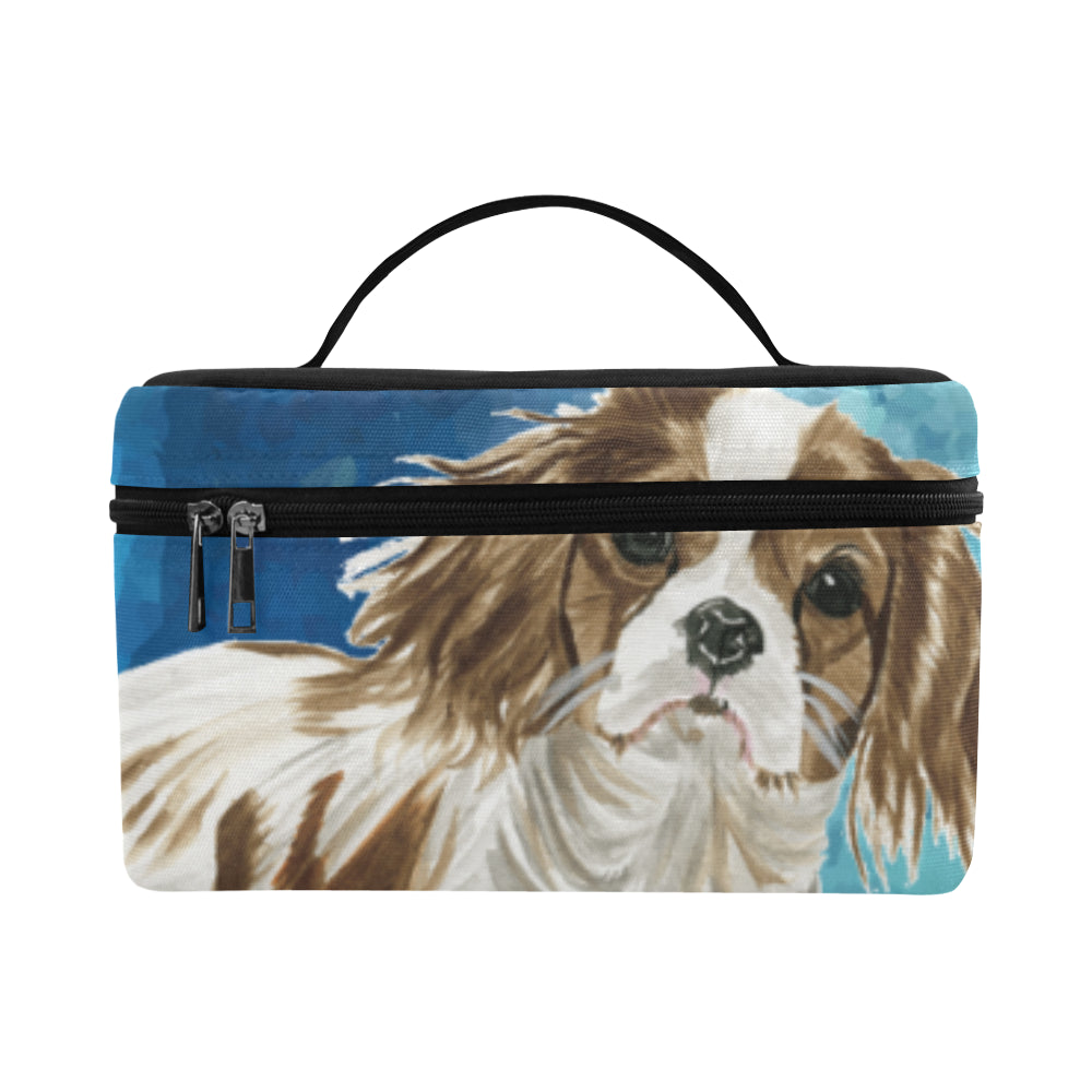Cavalier King Charles Spaniel Water Colour No.1 Cosmetic Bag/Large - TeeAmazing