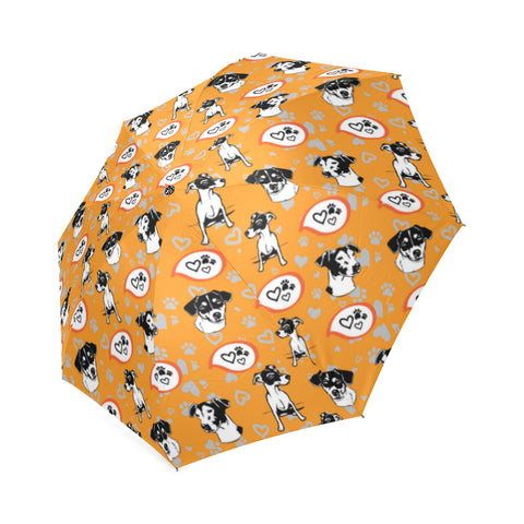 Jack Russell Terrier Pattern Foldable Umbrella