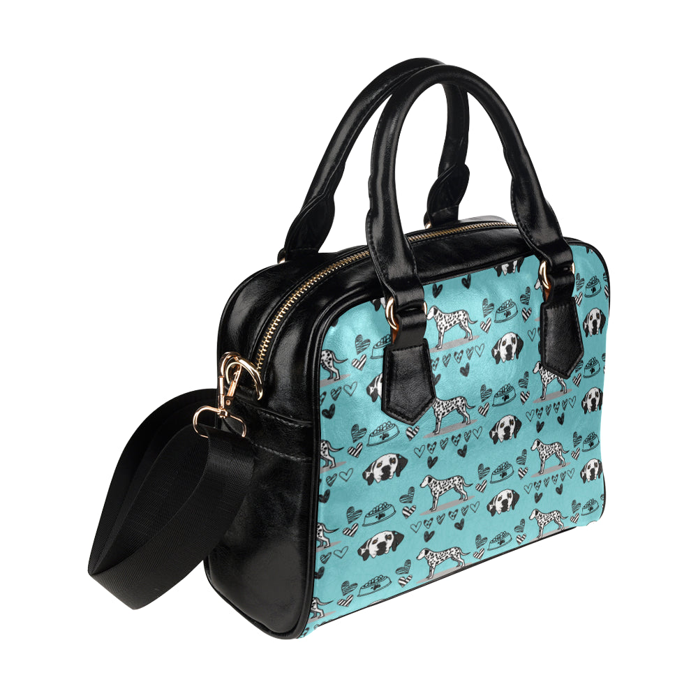 Dalmatian Pattern Shoulder Handbag - TeeAmazing