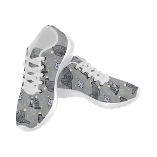 Highlander Cat White Sneakers for Women - TeeAmazing