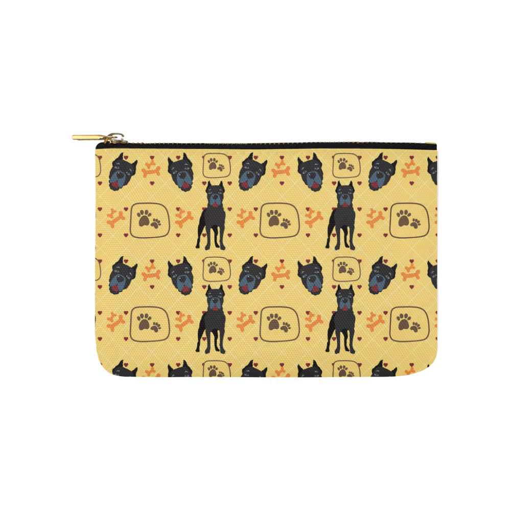 Cane Corso Pattern Carry-All Pouch 9.5x6 - TeeAmazing