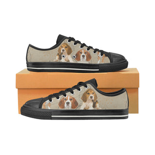 Beagle Lover Black Low Top Canvas Shoes for Kid - TeeAmazing