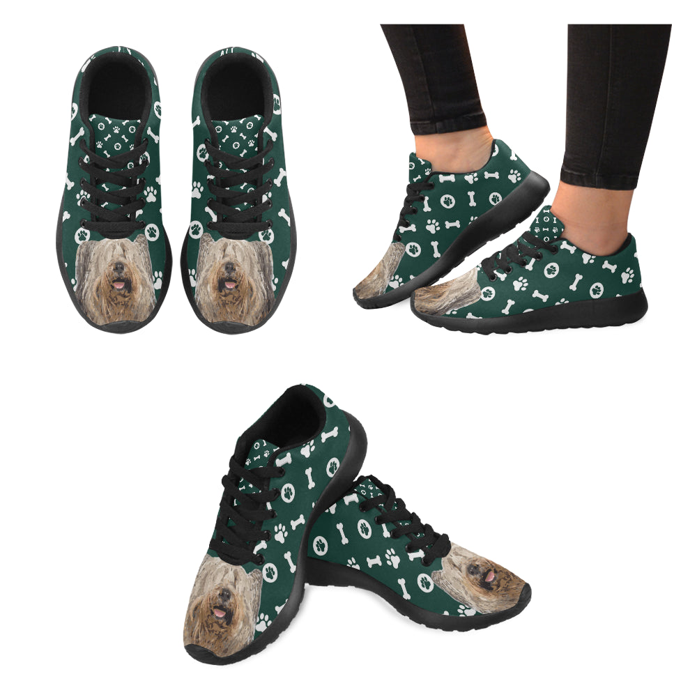 Skye Terrier Black Sneakers for Women - TeeAmazing