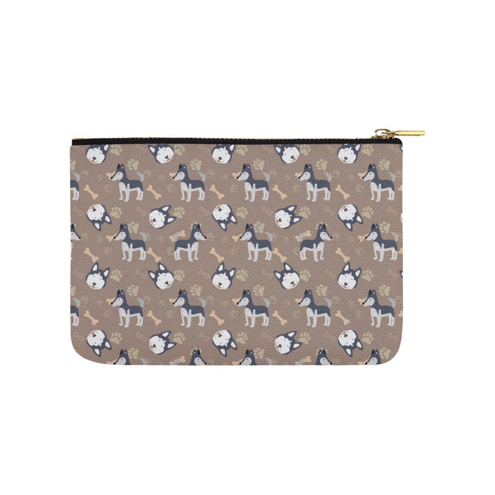 Siberian Husky Pattern Carry-All Pouch 9.5x6 - TeeAmazing