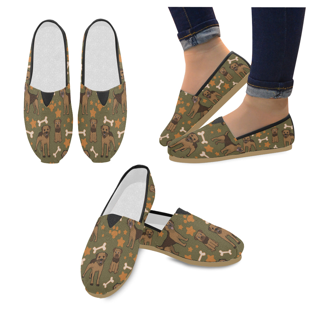 Border Terrier Pattern Women's Casual Shoes - TeeAmazing