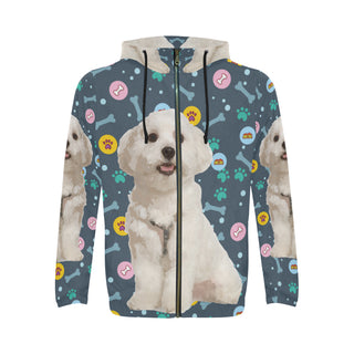 Maltese All Over Print Full Zip Hoodie for Men - TeeAmazing