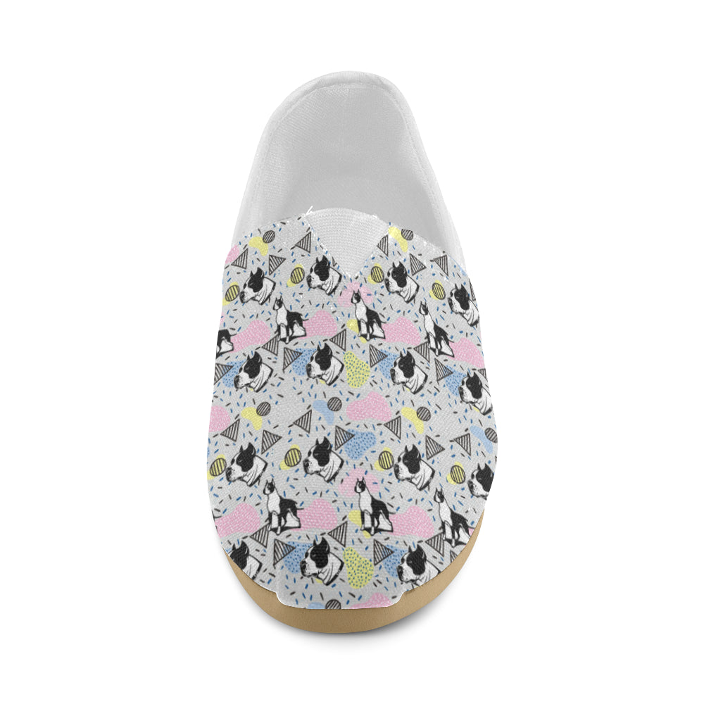 American Staffordshire Terrier Pattern Women's Casual Shoes - TeeAmazing