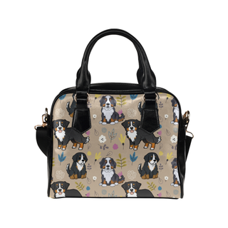 Bernese Mountain Flower Shoulder Handbag - TeeAmazing