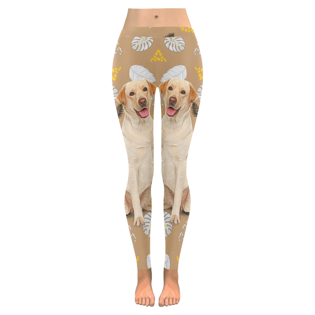 Labrador Retriever Lover Low Rise Leggings (Invisible Stitch) (Model L05) - TeeAmazing