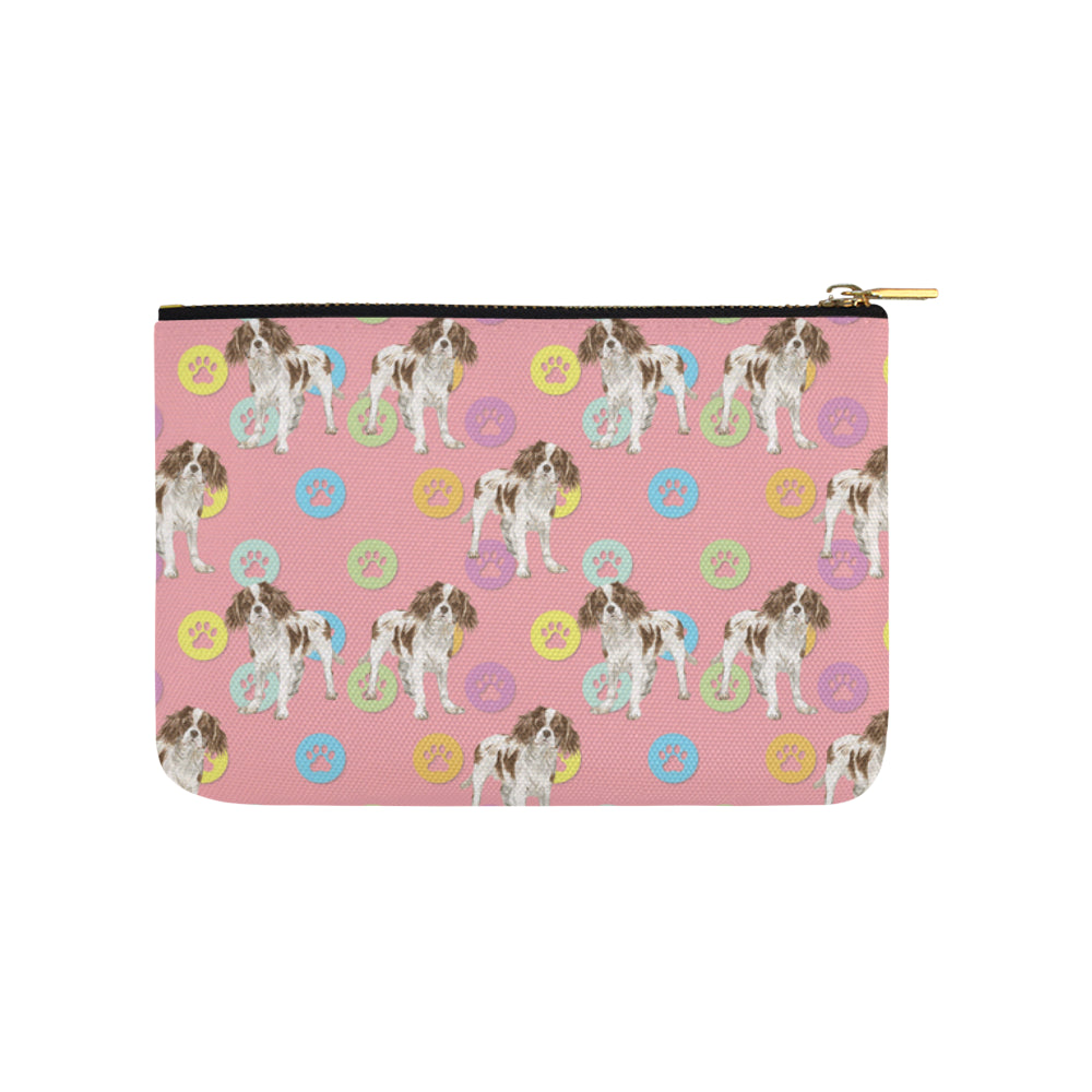 Cavalier King Charles Spaniel Water Colour Pattern No.1 Carry-All Pouch 9.5x6 - TeeAmazing