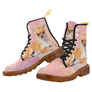 Chihuahua Lover Black Boots For Women - TeeAmazing