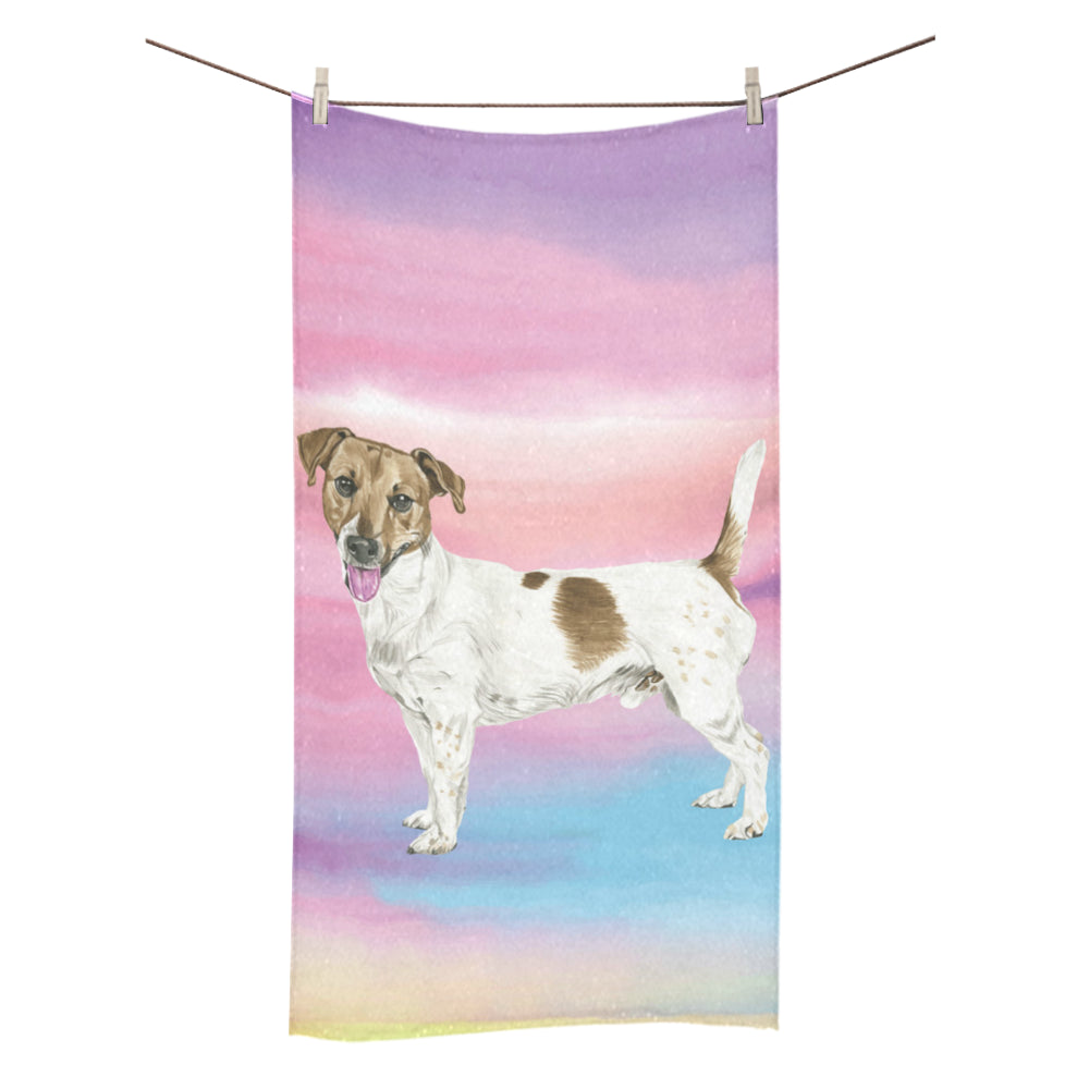 "Jack Russell Terrier Water Colour No.1 Bath Towel 30""x56"" - TeeAmazing"