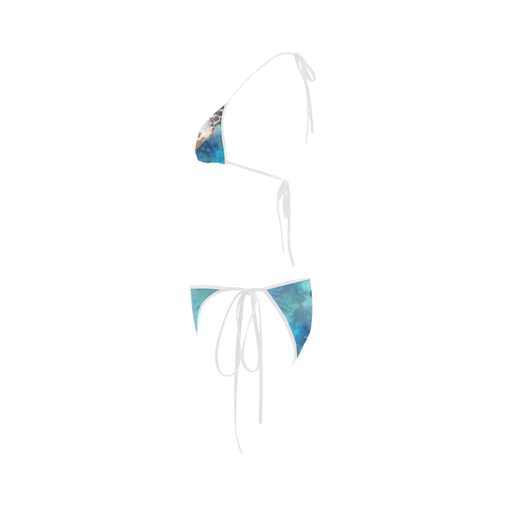Boxer Water Colour Custom Bikini Swimsuit - TeeAmazing