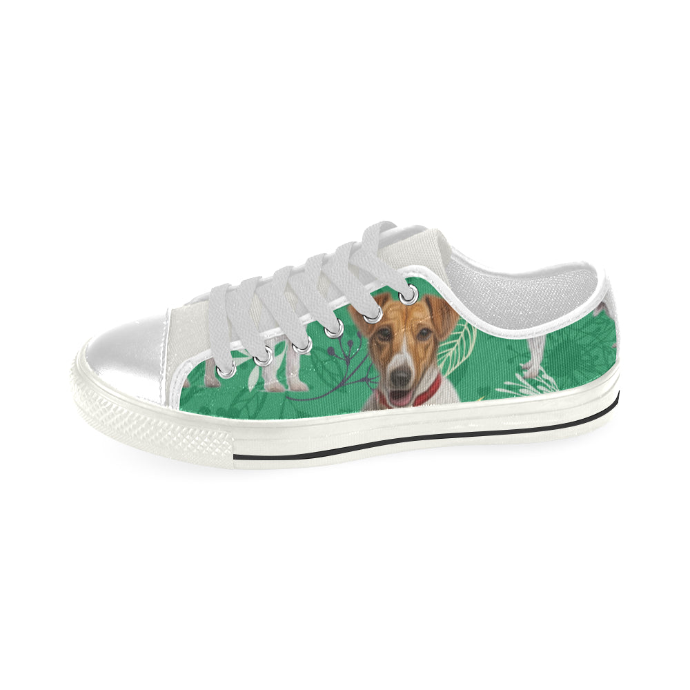 7961b23fcf3 ... Jack Russell Terrier Lover White Men s Classic Canvas Shoes - TeeAmazing  ...